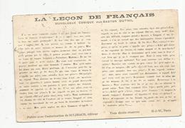 Cp , HUMOUR , La Leçon De FRANCAIS , Monologue Comique Par Gaston DUTHILL , Voyagée 1911 - Humour