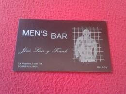 ANTIGUA TARJETA DE VISITA VISIT CARD PUBLICIDAD PUBLICITARIA O SIMIL MEN'S BAR GAY ? TORREMOLINOS MÁLAGA COSTA DEL SOL - Tarjetas De Visita