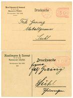 2 Inlands Firmendrucksachen Freistempler - 2 PP 1923 - Briefe U. Dokumente