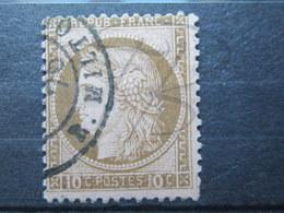 VEND BEAU TIMBRE DE FRANCE N° 54 , BRUN FONCE SUR ROSE !!! (b) - 1871-1875 Ceres