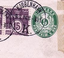 Lettre København Danemark Danmark Copenhague Plauen Sachsen - Postal Stationery