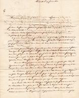 Lettre Avec Correspondance Marseille 1820 Bouches Du Rhône Lyon Bonnet - Marcofilie (Brieven)