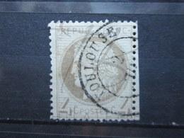 """VEND TIMBRE DE FRANCE N° 52 , FOND LIGNE , CACHET """" TOULOUSE """" !!! - 1871-1875 Ceres"""