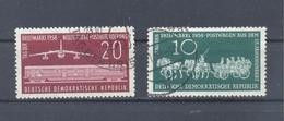 1958  DDR  Mi-660-661  23 . Oktober Tag Der Briefmarke Gestempelt - [6] Democratic Republic