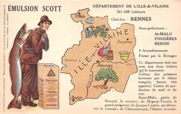 ¤¤  -  Carte Publicitaire Du Département De L ' ILLE-&-VILAINE - Emulsion Scott     -  ¤¤ - France