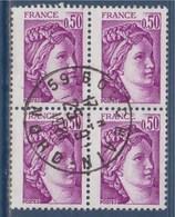 = Sabine De Gandon Bloc Oblitéré X4  N°1969 Paris 25.9.81 - 1977-81 Sabine De Gandon