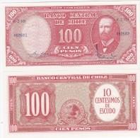 Chile - 10 Centimos On 100 Pesos 1960 Pick 127a UNC Lemberg-Zp - Chili