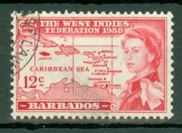 Barbados: 1958   British Caribbean Federation    SG305   12c  Used - Barbados (...-1966)