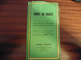 Foret De Marly Carte Etat Major Eaux Et Forets Camping Sentiers Grande Randonnee 1/15000eme - Cartes/Atlas