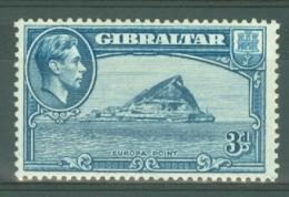 Gibraltar: 1938/51   KGVI     SG125b    3d   [Perf: 13]   MH - Gibraltar