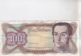 Billet CIEN BOLIVARES - Venezuela