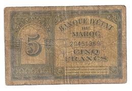 Maroc 5 Francs 1944 - Maroc