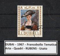"""DUBAI -1967 - Francobollo Tematica """" Arte - Quadri - """" RUBENS """" Usato -  (FDC9459) - Dubai"""