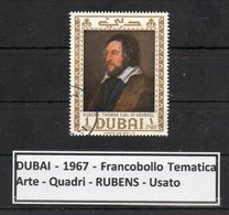 """DUBAI -1967 - Francobollo Tematica """" Arte - Quadri - """" RUBENS """" Usato -  (FDC9460) - Dubai"""