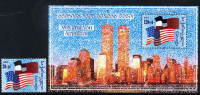 GEORGIA 2001 Solidarity With USA Stamp + Block  MNH / ** - Géorgie