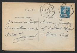 Isère - Cachet Hexagonal  SEYSSINS - Poststempel (Briefe)