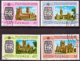 TUVALU 1978 SG #89-93 Compl.set+m/s Used 25th Anniv Of Coronation - Tuvalu