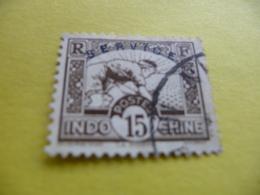 TIMBRE   INDOCHINE    SERVICE   N  8      COTE  2,00  EUROS    OBLITERE - Indochine (1889-1945)