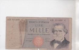 Billet MILLE LIRE - [ 2] 1946-… : Républic
