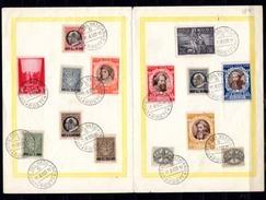 1940    Année Jubilaire Sur Feuillet Postal, Lot Commémoratif - Lettres & Documents
