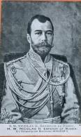"""CPA Guerre Européenne De 1914 Edition Patriotique """"S.M. Nicolas II Empereur De Russie"""". Impr. I. Lapina Paris N° 1970 - Oorlog 1914-18"""