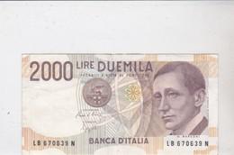 Billet DUEMILA LIRE - [ 2] 1946-… : République