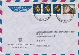 Lettre Wellington Ambassy Of Switzerland New Zealand Ambassade Suisse Nouvelle Zélande - Nouvelle-Zélande