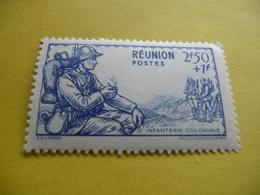 TIMBRE   RÉUNION     N  177      COTE  1,80  EUROS    NEUF  TRACE  CHARNIÈRE - Reunion Island (1852-1975)