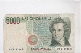 Billet CINQUEMILA LIRE - [ 2] 1946-… : Repubblica