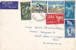 Lettre Thames 1964 Switzerland New Zealand Nouvelle Zélande - Nouvelle-Zélande