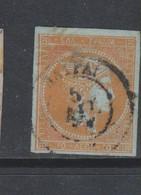 Yvert 20 Oblitéré Pli Et Petite Déchirure - 1861-86 Hermes, Groot