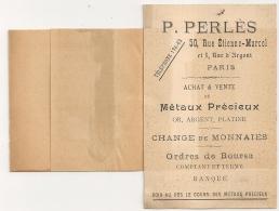 IMPRIMs 2° PARIS PP, 1c SAGE. OR, ARGENT, PLATINE. Métaux Précieux P. PERLES PARIS. - 1876-1898 Sage (Type II)