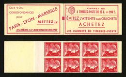 FRANCE - CARNET YT 1011C C1 - MARIANNE DE MULLER 25F - S1-59 - CARNET DE 8 TIMBRES ** - Freimarke
