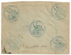 MONTPELLIER Hérault, 16e SECTION De COMMIS Et OUVRIERS Mres D'ADMon. 1901 - Marcophilie (Lettres)
