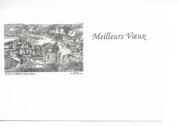 MEILLEURS VOEUX MIGNONETTE LES ANDELYS N° 2716 Par Yves DUCOURTIOUX écrite Pour 1997 Très Bon état 13 X 8,5 - Nouvel An