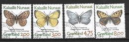 Groënland 1997 N°278/281 Oblitérés Papillons - Groenlandia