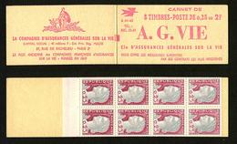 FRANCE - CARNET YT 1263 C1 - MARIANNE DE DECARIS - S01-63 - CARNET DE 8 TIMBRES ** - Freimarke