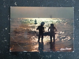 COUCHER DE SOLEIL SUR L OCEAN ET CITATION DE BERNARDIN DE SAINT PIERRE AU DOS - Fotografía
