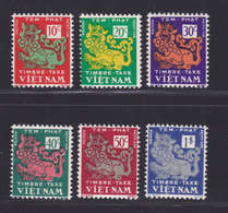 VIETNAM EMPIRE TAXE N°    1 à 6 ** MNH Neufs Sans Charnière, TB (D7003) Dragons - Vietnam