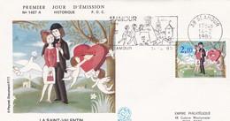 1985 - L  FDC     -  PEYNET    -  La Saint Valentin - 1980-1989