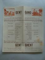 GHENT. CITY OF MONUMENTS, OF BEGUINAGES, OF FLOWERS, PORT / GANTD. VILLE DES MONUMENTS, DES BÉGUINAGES - GAND, GENT 1950 - Dépliants Touristiques
