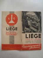 LIÈGE. PORTE DE L'ARDENNE. RENSEIGNEMENTS GÉNÉRAUX - BELGIUM, BELGIQUE, LUIK, 1950 APROX. - Dépliants Touristiques