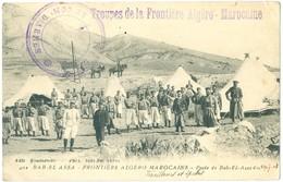 1909, Algeria, Bab-El-Assa, French Military Cachet. Printed Pc, Used. - Regiments