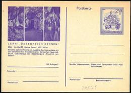 Austria/Autriche:  Intero, Stationery, Entier, Grotte Di Alland, Alland Caves, Grottes De Alland - Altri