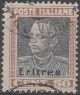 ERITREA - 1928 50c Overprint. Scott 108. Used - Eritrea