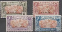 ERITREA - 1923 Propagation. Scott 65-68. Mint * - Eritrea