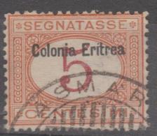 ERITREA - 1903 5c  Postage Due. Scott J1. Used - Eritrea