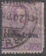 ERITREA - 1903 50c Overprint. Rough Perfs At Right. Scott 27. Used - Eritrea
