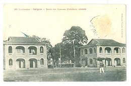 1900's, Vietnam (Cochinchine), Saigon, Entree Des Casernes D'Infanterie Coloniale. Printed Pc, Used. - Barracks