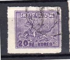 1951 20 Won Rouletted VF Used (129) - Corea Del Sud